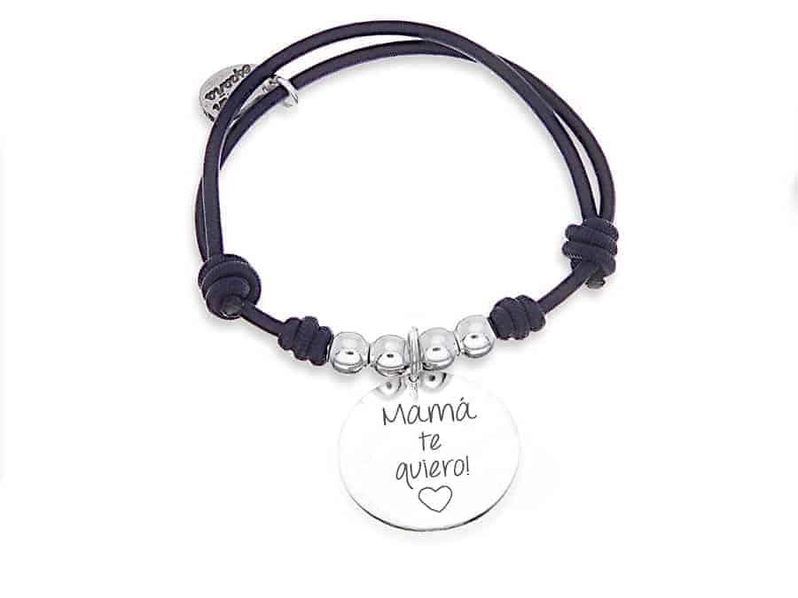 99dc48365430 Pulsera personalizada elástico negro MADRE - Cuchicuchi Regalos ...