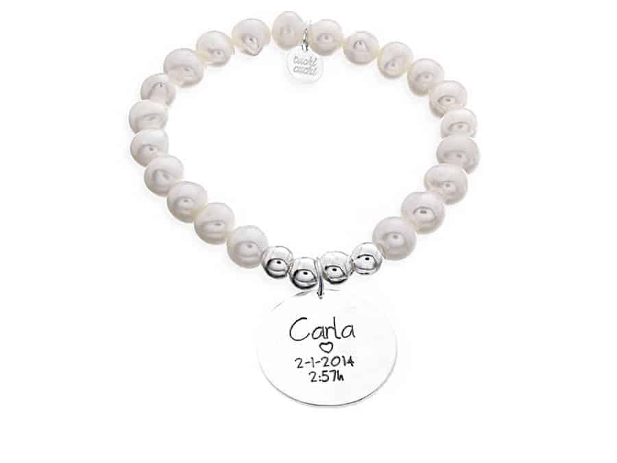 Pulsera personalizada perlas MADRE