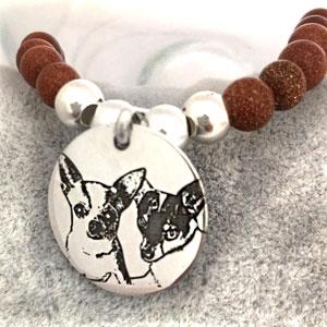 regalo personalizado perritos pulsera