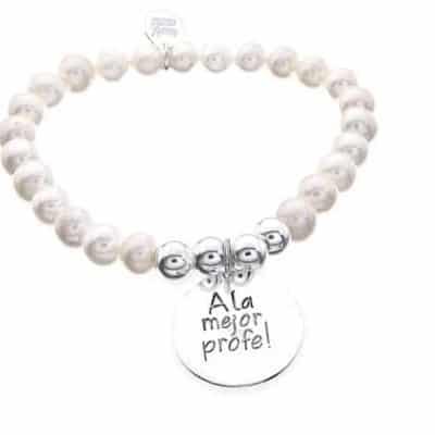 Pulsera personalizada perlas profe