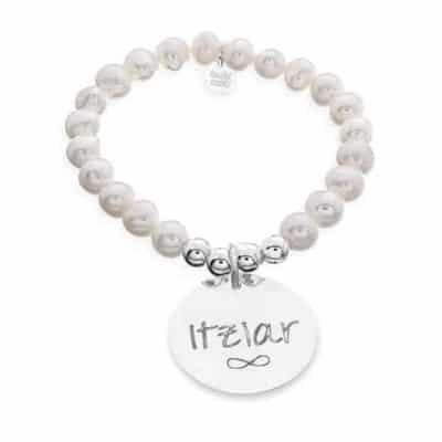 Pulsera personalizada de perlas