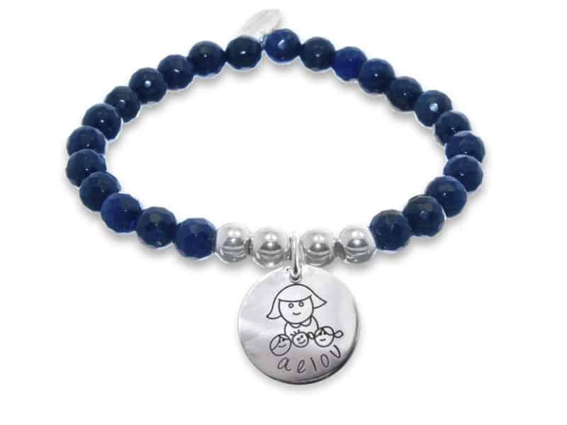regalo maestra guarderia pulsera marino
