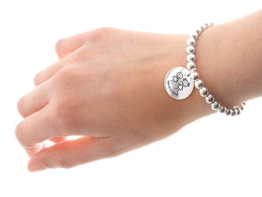 pulsera plata ley personalizada mamas