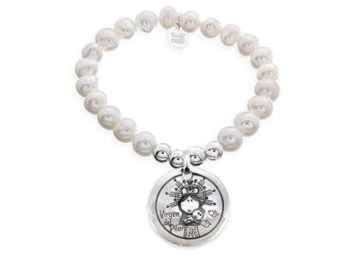 Pulsera personalizada perlas Virgen del Pilar
