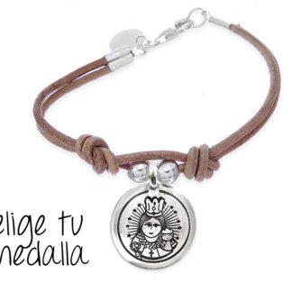 f541f1976956 €28 Seleccionar opciones · Pulsera personalizada cuero Virgencita plis