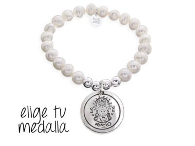 Pulsera personalizada perlas Virgencita plis