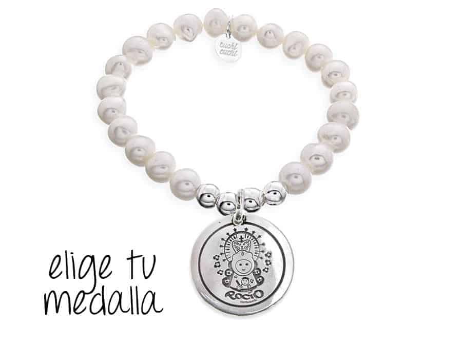 328a0be8beb4 Pulsera personalizada perlas Virgencita plis - Cuchicuchi Regalos ...