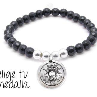 7bc698bdf8c0 €28 Seleccionar opciones · Pulsera personalizada agata negra Virgencita plis