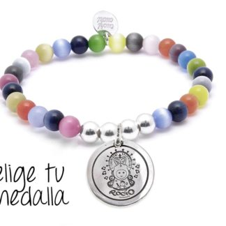 Pulsera personalizada ojo gato multicolor Virgencita plis