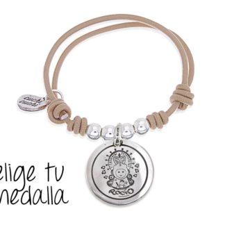 5200812ff94c €25 Seleccionar opciones · Pulsera personalizada elástico beige Virgencita  plis