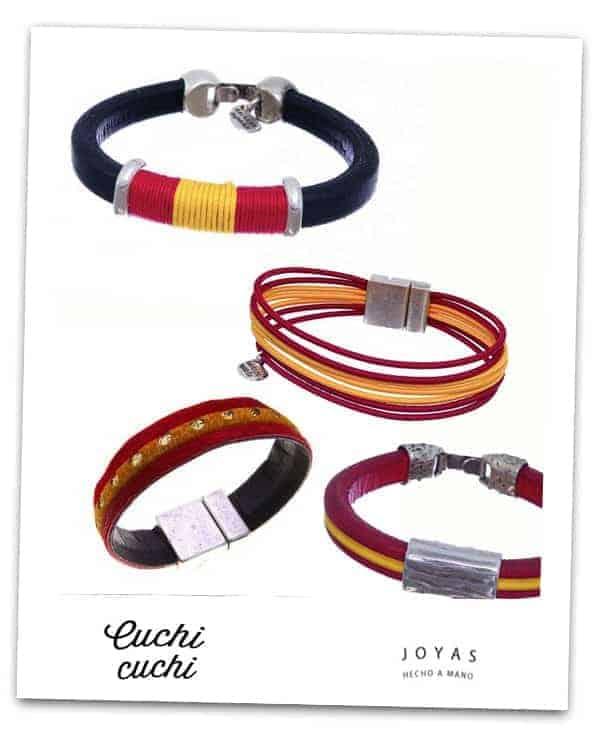pulseras cuero hombre bandera españa regalo personalizado