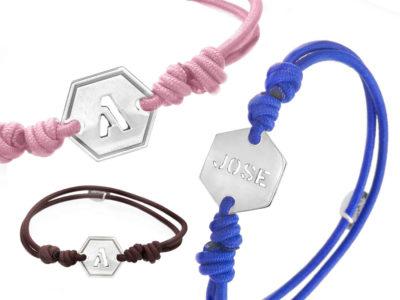 pulseras iniciales elastico
