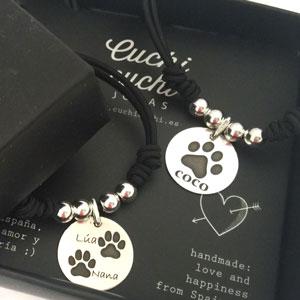 regalos personalizados perros huella nombre plata