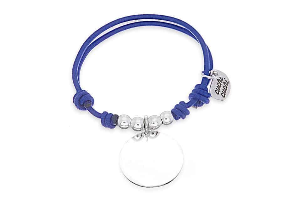 Pulsera personalizada elástico azul