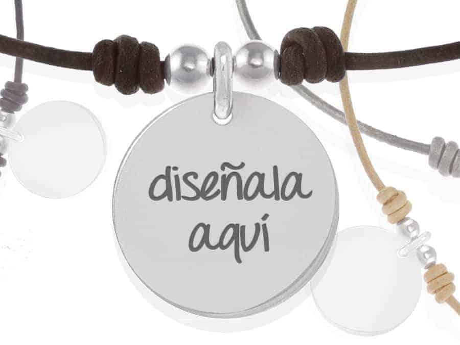 8397c20cfbd8 Collar personalizado de cuero natural  el regalo más original con tu ...