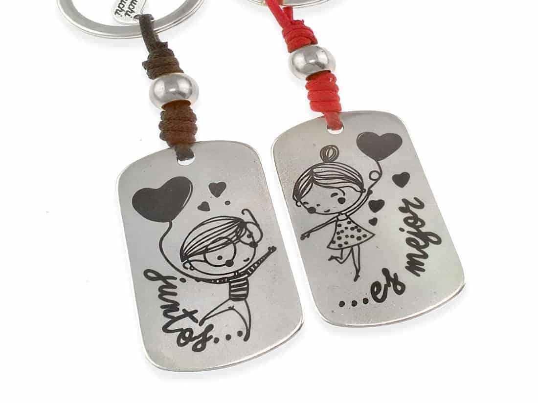 Llaveros personalizados parejas juntos es mejor regalos romanticos - Regalos originales para la casa ...