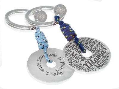 llavero plata de ley disco regalo dia de la madre sku002-050417-001